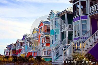 Beach houses Stock Photo