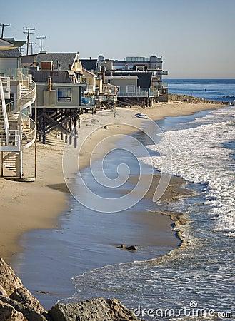Free Beach Houses, California Stock Photo - 22702100