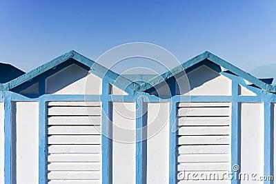 Beach hut in Rimini, Italy