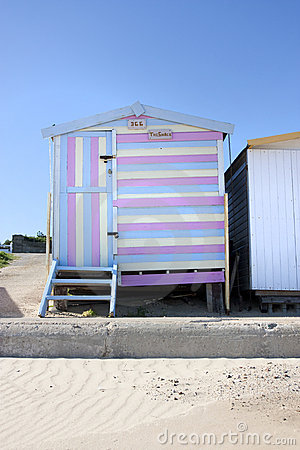 Beach hut stripey