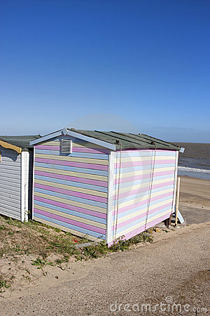 Beach hut and view to sea