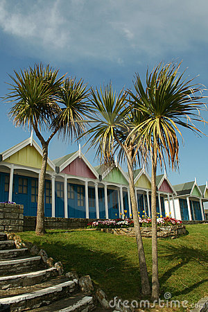 Free Beach Huts. Stock Images - 4900594