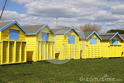 Beach huts at Bognor Regis. Sussex. England
