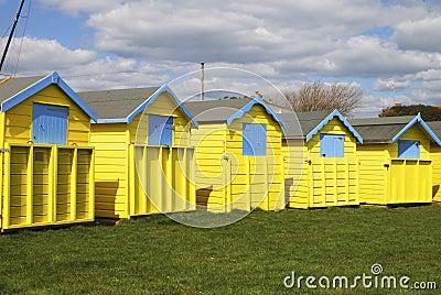 Beach huts at Bognor Regis. Sussex. England