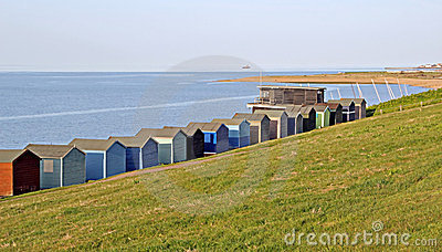 Beach huts and sailing club