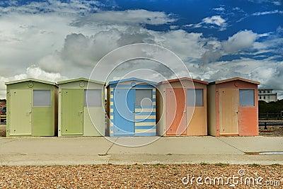 Beach huts at Seaford, UK