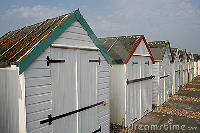 Beach huts on seafront
