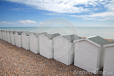 Beach huts seaside chalet england