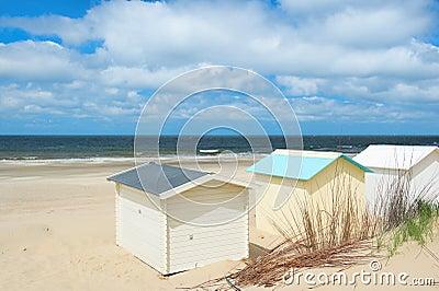 Beach huts at Texel