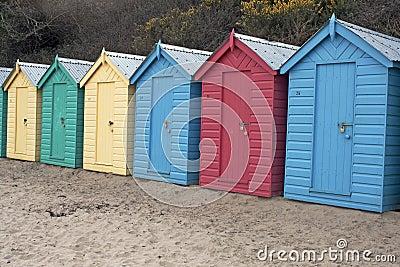 Beach huts, Wales