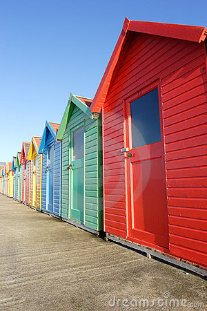 Free Beach Huts, Whitby Royalty Free Stock Photography - 822617