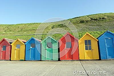 Beach huts, Whitby, UK