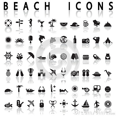 Free Beach Icons Stock Photos - 46725963