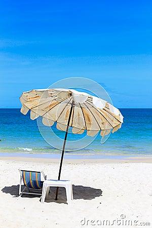 Beach on idyllic tropical sand beach.