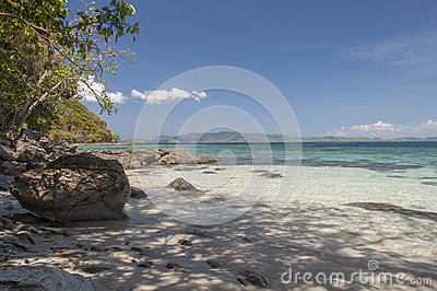Beach on island. Philippines