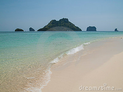 Beach and islands in the Andaman Sea