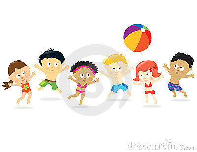 Beach Kids - Multi Ethnic