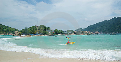 The beach of  Koh Tao Island of Thailand