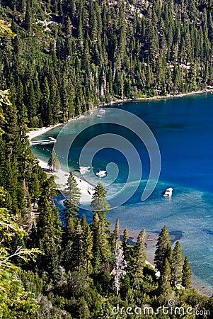 Beach in the Lake Tahoe