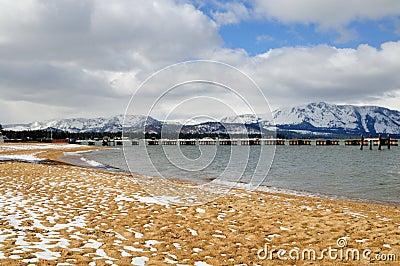 Beach, lake Tahoe, winter