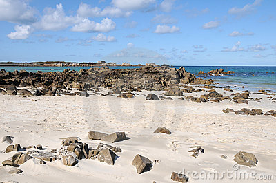 Beach at L'Ancresse Bay, Guernsey
