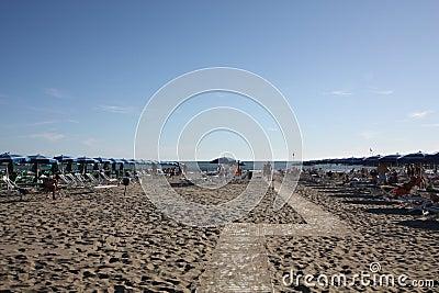 Beach landscape at Forte dei Marmi, Italy