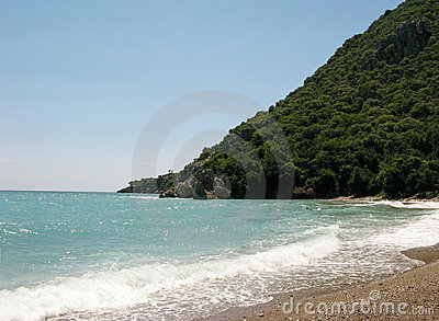 Beach landscape olympos turkey