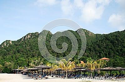 Beach on Langkawi island