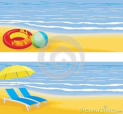 Beach leisure. Banner