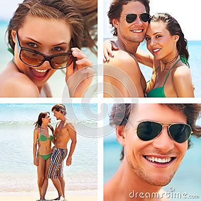 Beach life collage.
