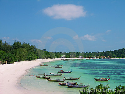 Beach of Lipe island in Andaman sea, Thailand