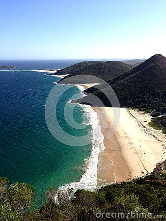 Beach lookout from Port Stephens