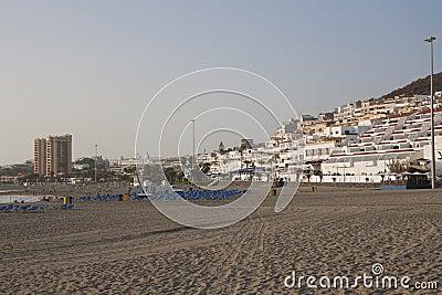Beach in Los Cristianos, Tenerife