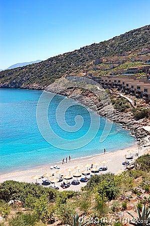 Beach of the luxury hotel