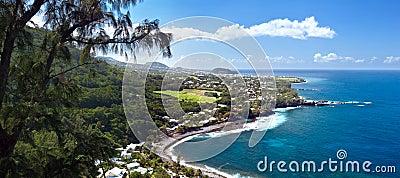 Beach of Manapany - Reunion Island.