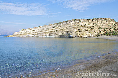 The Beach of Matala, Crete