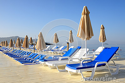 Beach on Mediterranean turkish resort