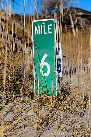Beach mile marker