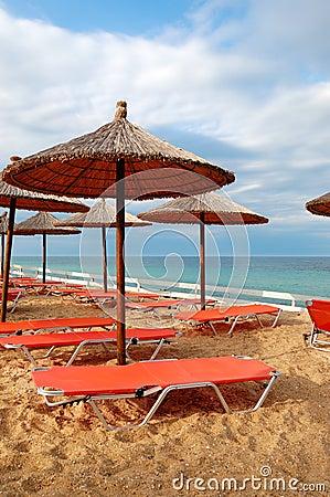 Beach at the modern luxury hotel