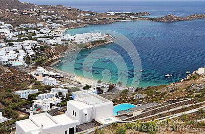 Beach at Mykonos island in Greece