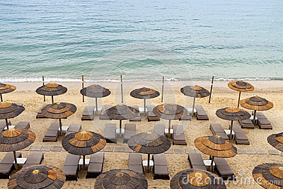 Beach at Mykonos island in Greece