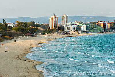 Beach of Nessebar, Bulgaria
