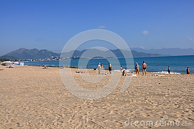 Beach in Nha Trang,Vietnam Editorial Photography