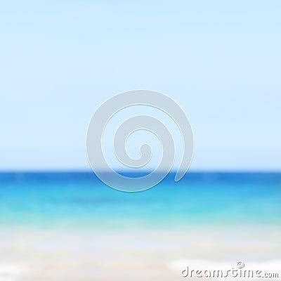 Beach ocean background blur