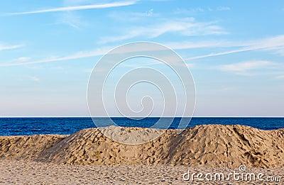 Beach, Ocean, and Sky
