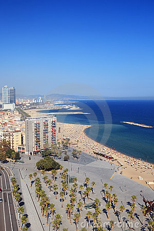 Free Beach Of Barcelona Royalty Free Stock Images - 21494649