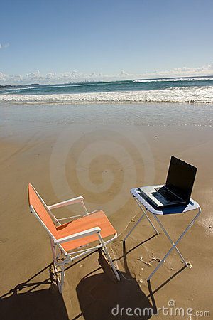 Free Beach Office Royalty Free Stock Photos - 145278