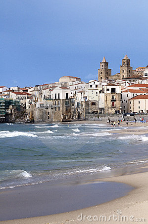 Beach and old town, Cefalu