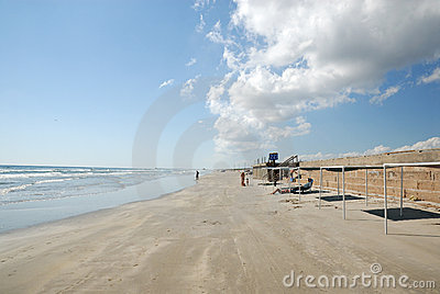 Beach of Padre Island, Texas Editorial Photo