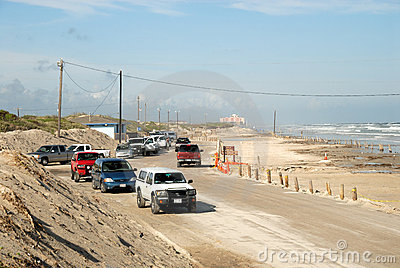 Beach of Padre Island, Texas Editorial Stock Photo